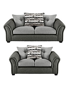 Jazz 3 plus 2 Seater Pillowback Sofa