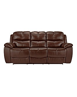 Carlton Leather Recliner 3 Seater Sofa