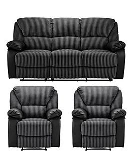 Weston Recliner 3 Seater and 2 Chairs