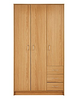 Darwen 3 Door 3 Drawer Wardrobe