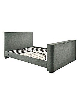 Newark Fabric Kingsize TV Bedstead