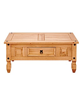 Corona Solid Pine Storage Coffee Table