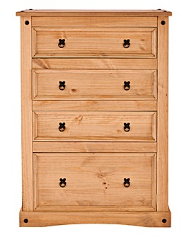 Corona Solid Pine 4 Drawer Chest