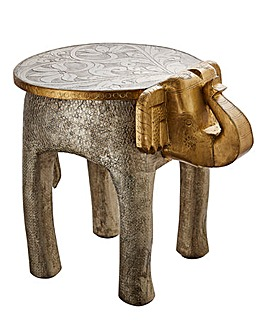 Metallic Elephant Side Table