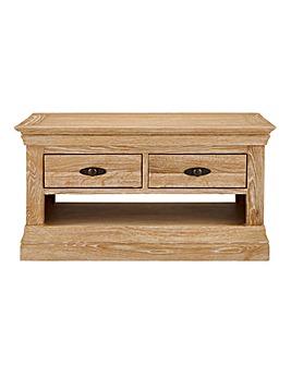 Balmoral Oak and Oak Veneer Storage Coffee Table