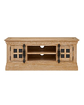 Balmoral Oak and Oak Veneer Large TV Unit