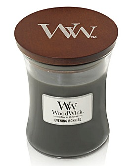 Woodwick Evening Bonfire Jar Candle