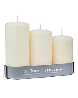 Set 3 Pillar Candles