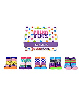 Cucamelon Polka Tots Toddler Socks Gifts Set