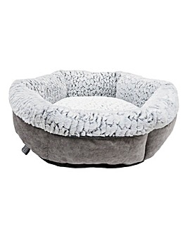 Rosewood Fleece Lined Plush Dog Bed 64cm