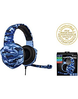 Subsonic Camo Blue Gaming Headset PS4