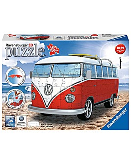 VW T1 Camper Van 3D Puzzle 162 Pieces