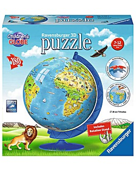 Children's World Map 3D Puzzle, 180pc