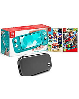 Switch Lite with 2 Games and Case