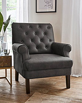 Duke Faux Leather Accent Chair