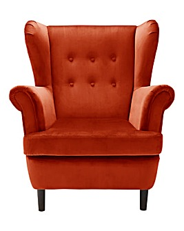 Banbury Velvet Wingback Chair