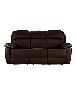 Roma Leather Recliner Three Seater Sofa