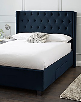 Allegra Fabric Storage Bed Frame