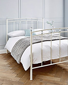 Eliana Metal Bed with Quilted Mattress