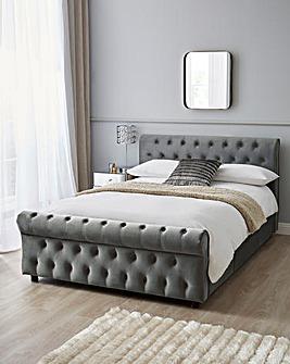 Kingston Velvet Storage Bed Frame