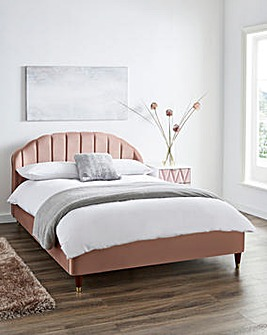 Clara Fabric Bed with Pocket Mattress