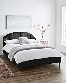 Clara Fabric Bed with Quilted Mattress