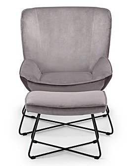 Aria Accent Chair with Stool