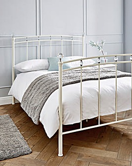 Eliana Metal Bed Frame with Memory Mattress