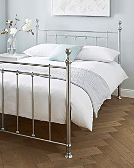 Howen Metal Bed Frame with Quilted Mattress