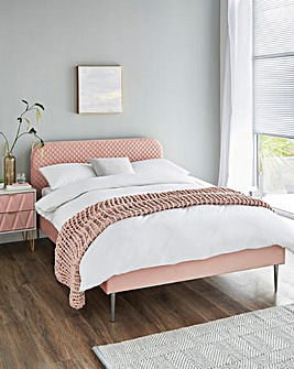 Arden Quilted Bed Frame with Quilted Mattress