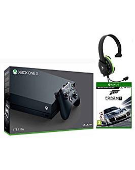 Xbox One X +Forza 7 +TB ReconChat