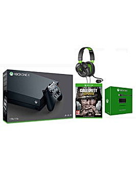 Xbox One X +COD WWII +TB 50X +P&C Kit