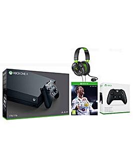 Xbox One X +Fifa 18 +TB 50X +Controller