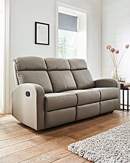 Ramsey Faux Leather Recliner 3 Seater Sofa