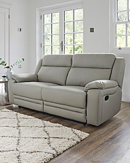 Croft Leather Recliner 3 Seater
