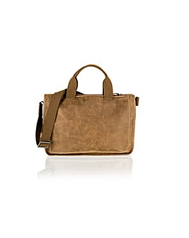 "Woodland Leather 14"" Tote Bag"