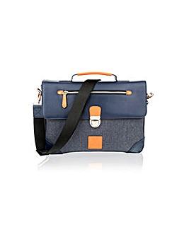 """Woodland Leather 15"""" Satl Bag"""
