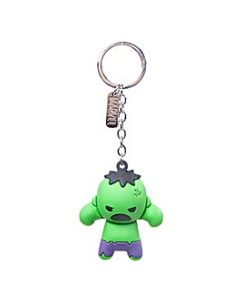 Hulk Character 3D Rubber Keychain