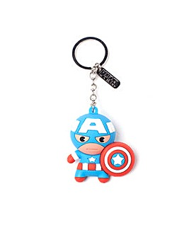 Captain America 3D Rubber Keychain