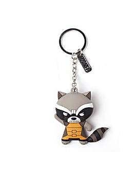Raccoon 3D Rubber Keychain