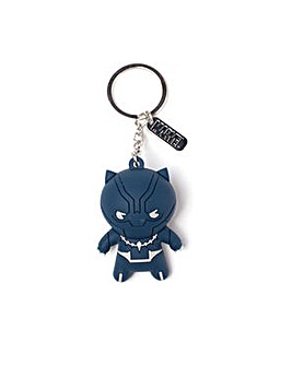 Black Panther 3D Rubber Keychain