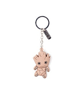 Groot 3D Rubber Keychain