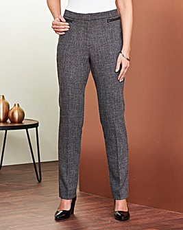 Textured Zip Trouser Regular