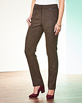 Textured Zip Trouser Short