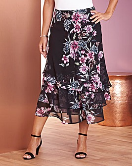 Chiffon Tiered Ruffle Skirt