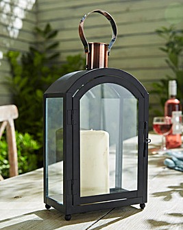 Black and Copper Garden Lantern