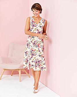 Print Linen Mix Sun Dress