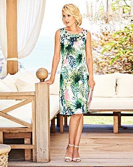 Embellished Cotton Sateen Dress