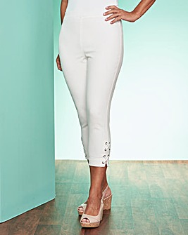 Cropped Jean with Lace Up Detail