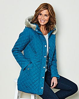 Parka with Fur Trimmed Hood